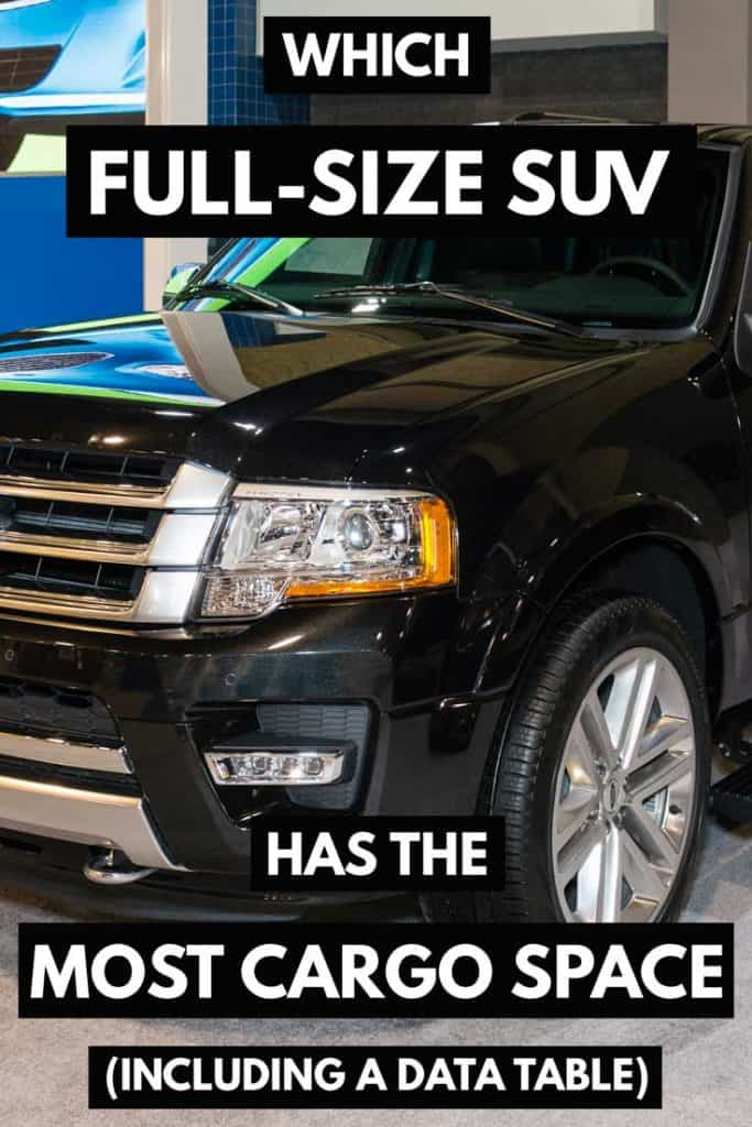 Which Full-Size SUV Has the Most Cargo Space (Including a Data Table)