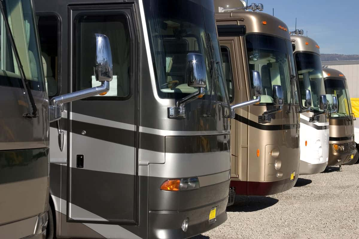Class A motorhomes have huge windshields