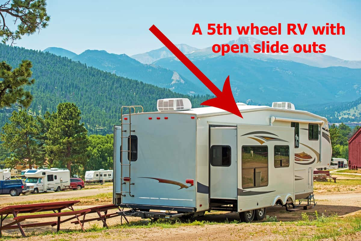 RV with slide outs open