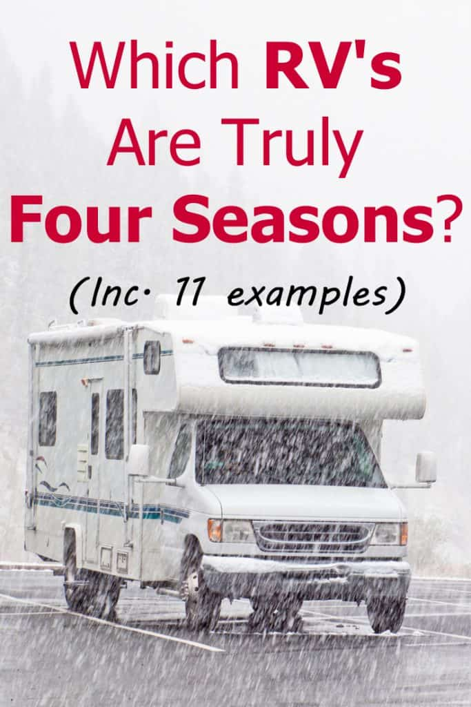 RV parked on the road while raining, Which RVs Are Truly Four Season? (Including 11 Examples)