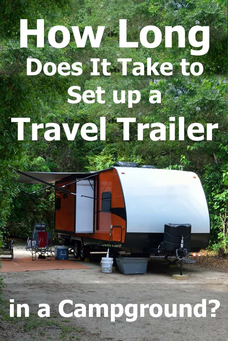 How long does it take to set up a travel trailer in a campground? We counted them minutes for you and have the answer