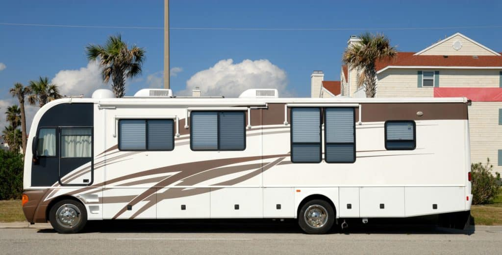 RV parked on the street