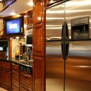 A full-size RV fridge