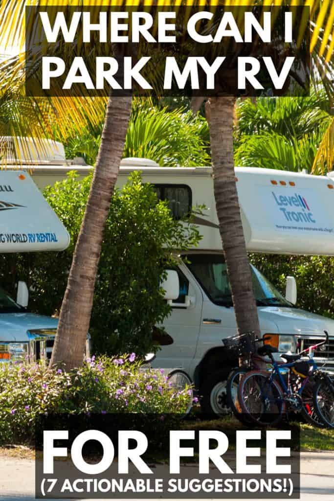 RV parking for free in a shady area, Where Can I Park My RV for Free? (7 Actionable Suggestions!)