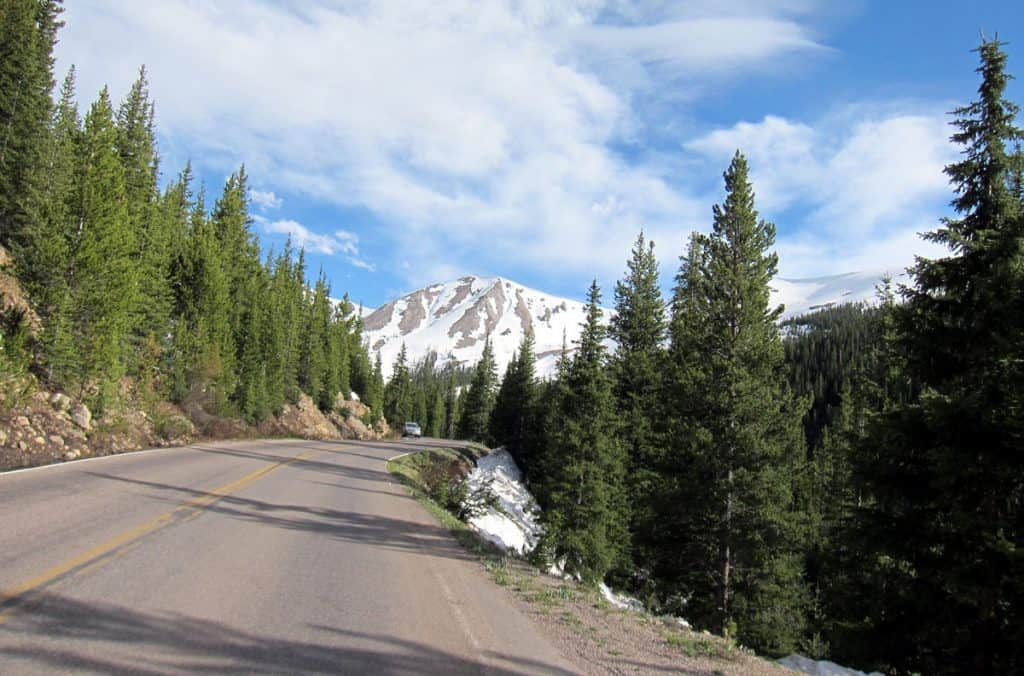 Curved road - Independence Pass, CO