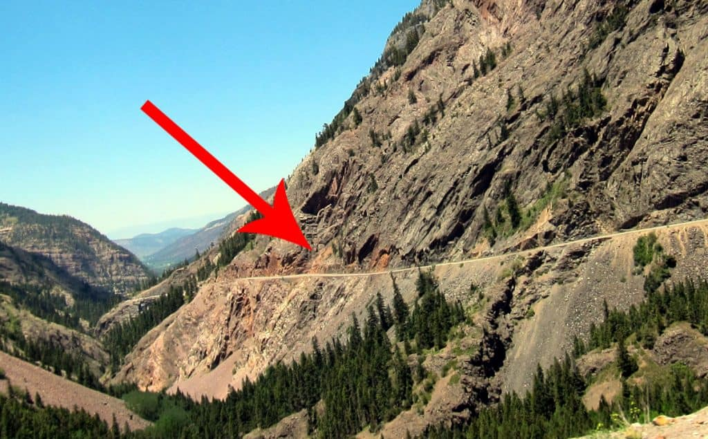 This is US-550, also known as the Milllion Dollar Highway
