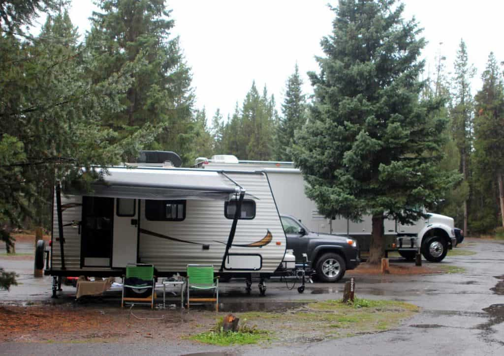 RVs at Fishing Bridge RV Park