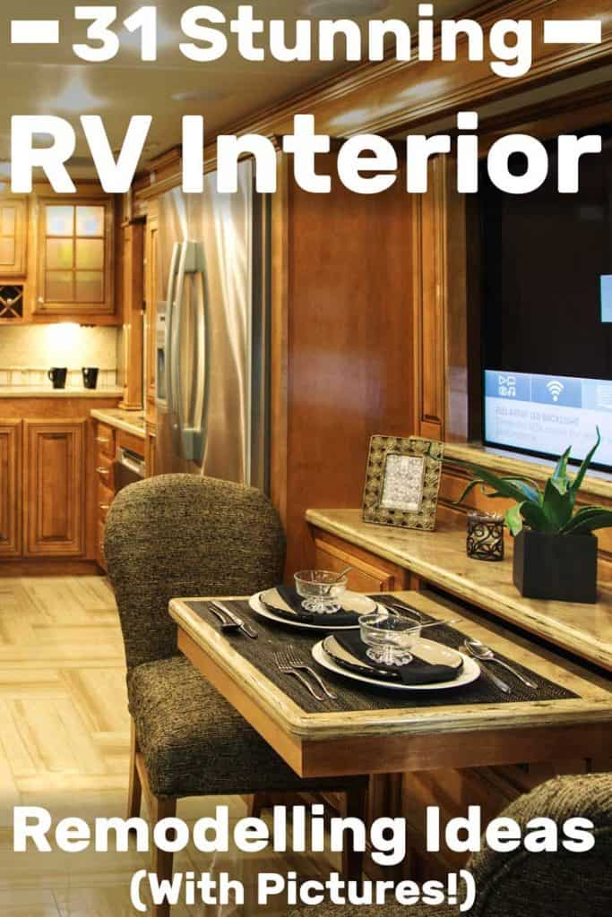 31 Stunning RV Interior Remodelling Ideas (With Pictures ...