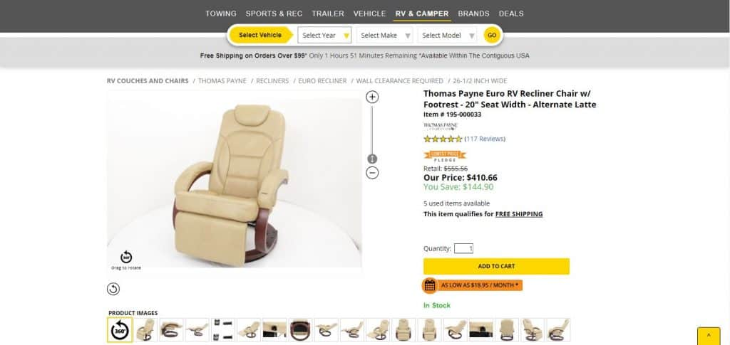 Recliner Chair with Footrest