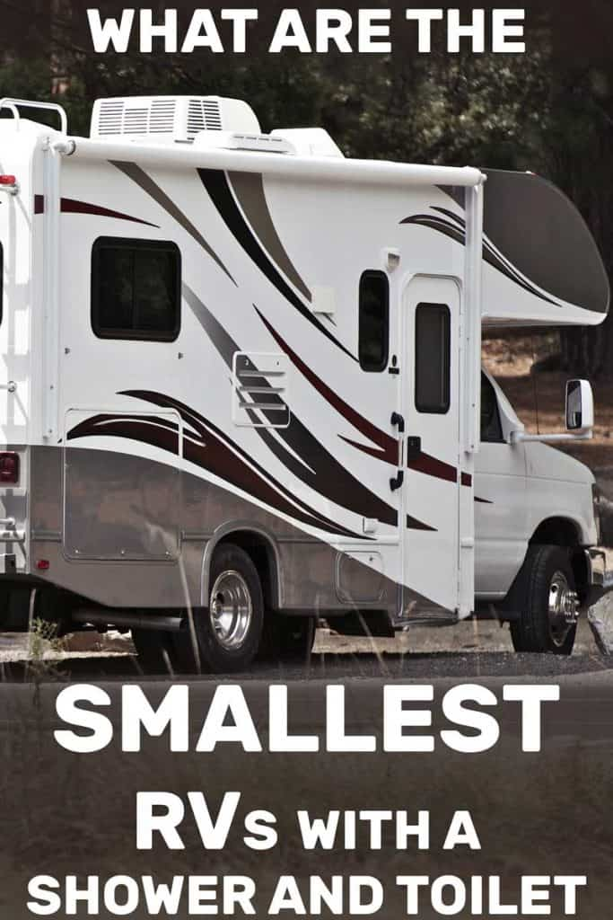 RV parked on an RV campground, What Are the Smallest RVs with a Shower and Toilets?
