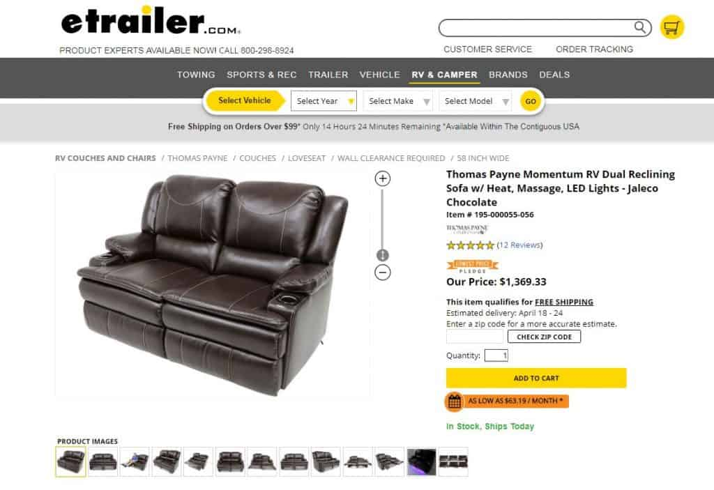 Thomas Payne recliner